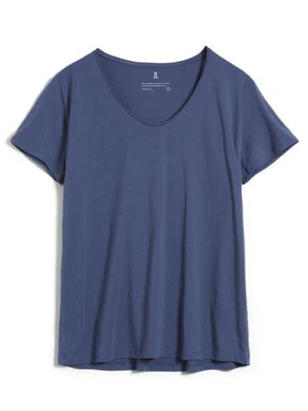 ARMEDANGELS T-Shirt Haadia foggy blue