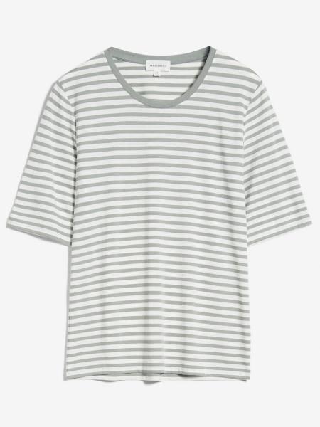 ARMEDANGELS T-Shirt Jilaraa Stripes sage green/oatmilk