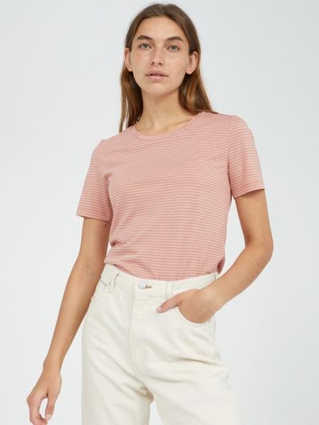 ARMEDANGELS T-Shirt Lidiaa Small Stripes sunrise/kinoko