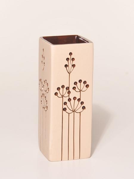 VASE Gräser klein Keramik creme