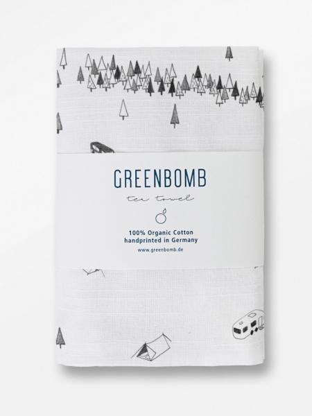 GREENBOMB Geschirrtuch Nature Camp natur