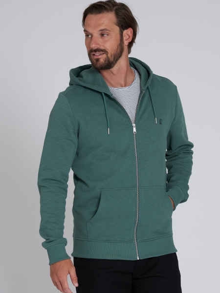 RECOLUTION Sweatjacket Basic eukalyptus green