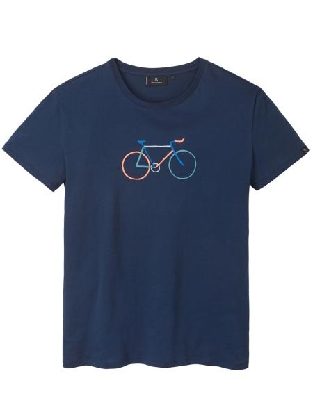 RECOLUTION Casual T-Shirt Bike navy