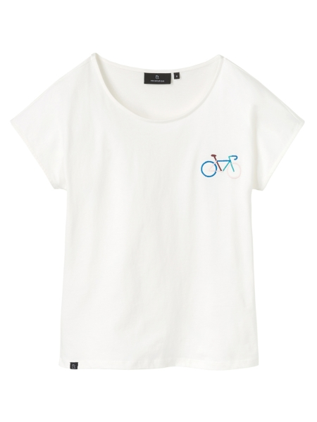 RECOLUTION Casual T-Shirt Bike offwhite