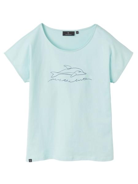 RECOLUTION Casual T-Shirt Dolphin light green