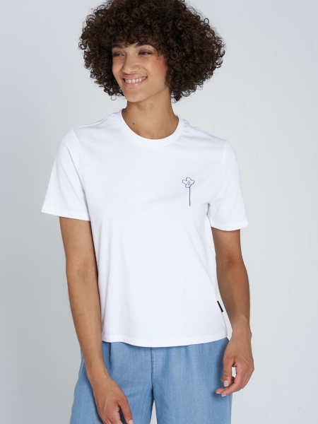 RECOLUTION Classic T-Shirt Flower white