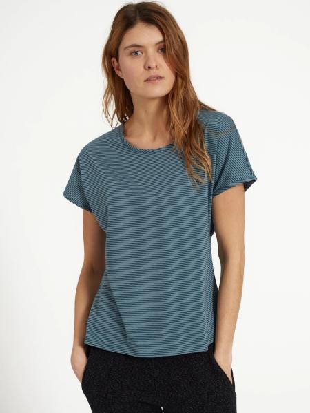 RECOLUTION T-Shirt Musella lake green/navy