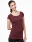 THOKKTHOKK T-Shirt Capsleeve Basic dark red melange 2
