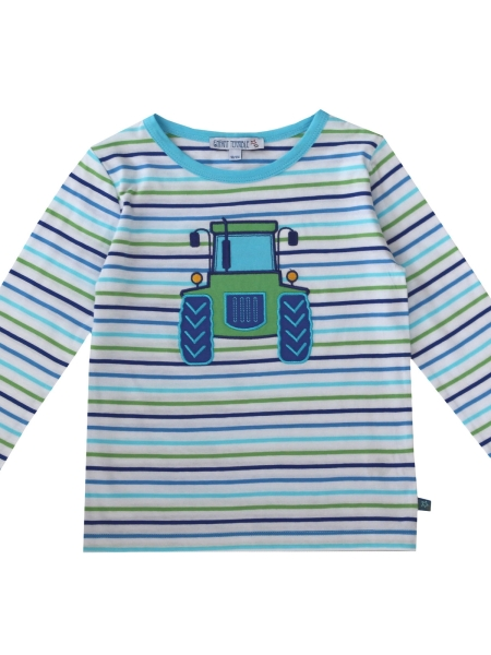 ENFANT TERRIBLE Langarmshirt Streifen Traktor white/green