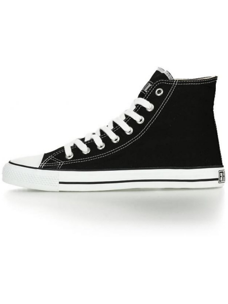 ETHLETIC Fair Trainer Hi Cut Classic jet black / just white 1