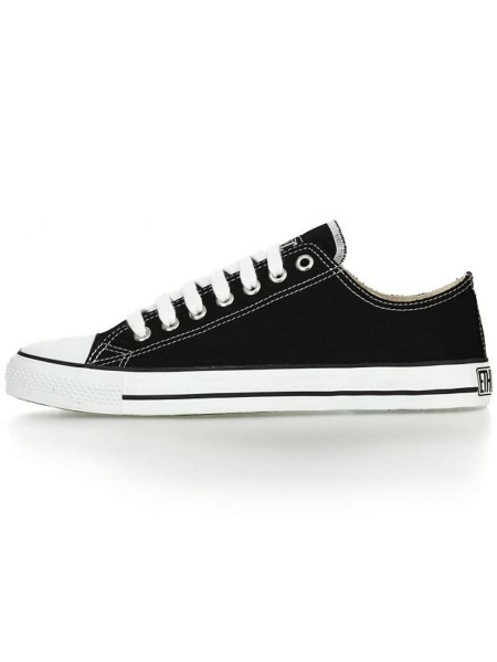 ETHLETIC Fair Trainer Lo Cut Classic jet black / just white 1