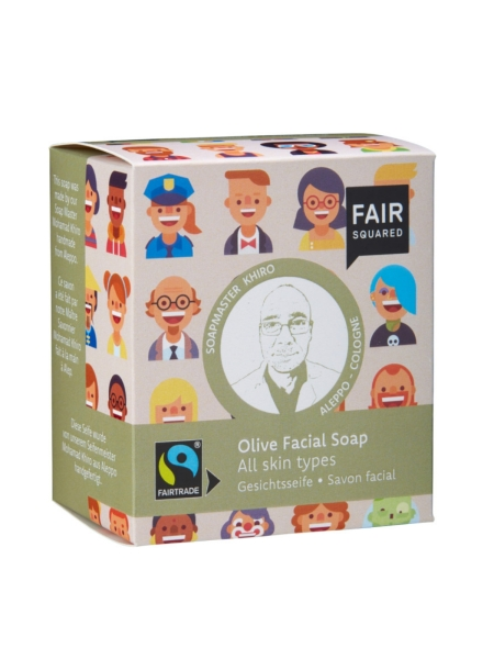 FAIR SQUARED Facial Soap Olive 2 x 80 g (5,59 €/100 g)