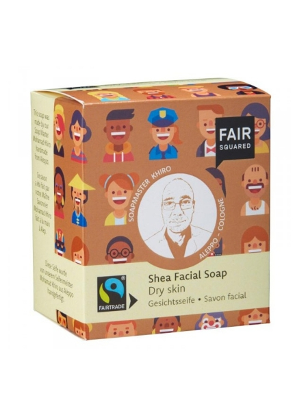 FAIR SQUARED Facial Soap Shea 2 x 80 g (5,59 €/100 g)