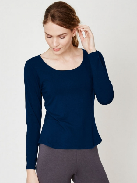 THOUGHT Longsleeve Bamboo Basic indigo