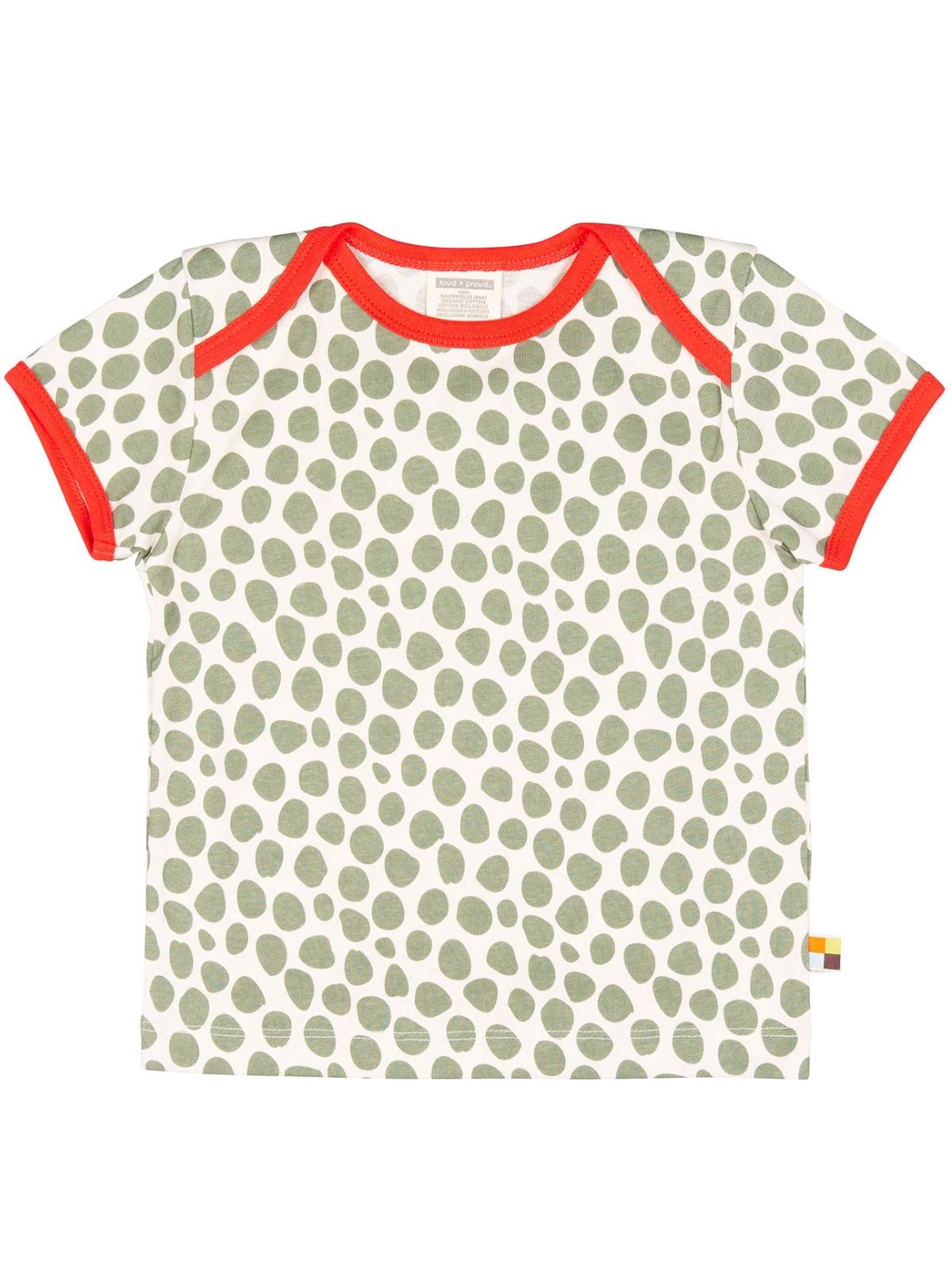 LOUD + PROUD T Shirt Kurzarm Punkte olive