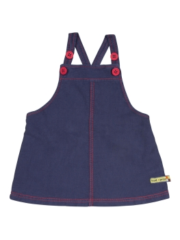 LOUD + PROUD Kleid Rippenstruktur navy