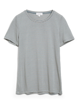ARMEDANGELS T-Shirt Lidiaa Ring Stripes soft moss/kitt
