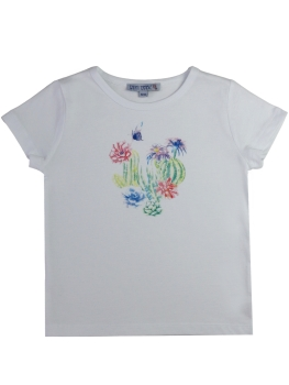 ENFANT TERRIBLE T-Shirt Kakteen white