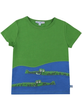 ENFANT TERRIBLE T-Shirt Krokodile leaf green