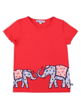 ENFANT TERRIBLE T-Shirt Zwei Elefanten red