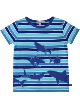 ENFANT TERRIBLE T-Shirt Streifen Haie aqua/navy