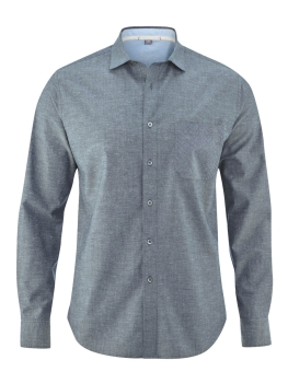 HEMPAGE Business Hemd graphite grey