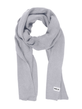 MELA WEAR Strickschal grau melange