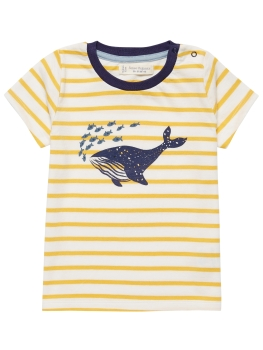 SENSE ORGANICS T-Shirt Ibon yellow stripes/whale print