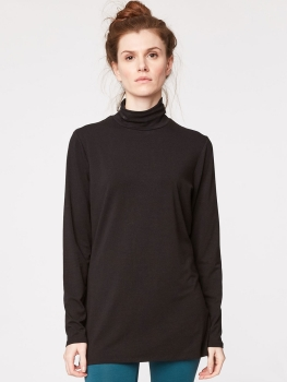THOUGHT Roll Neck black
