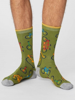 THOUGHT Socks Bicycle olive green