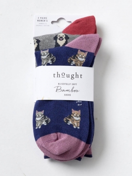 THOUGHT Socks Cat and Dogs 2er-Pack