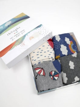 THOUGHT Sock Box Overcast Kids Weather