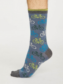 THOUGHT Socks Cycler blue slate